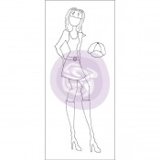 (Pre-Order) Mixed Media Doll Cling Stamp - Jill